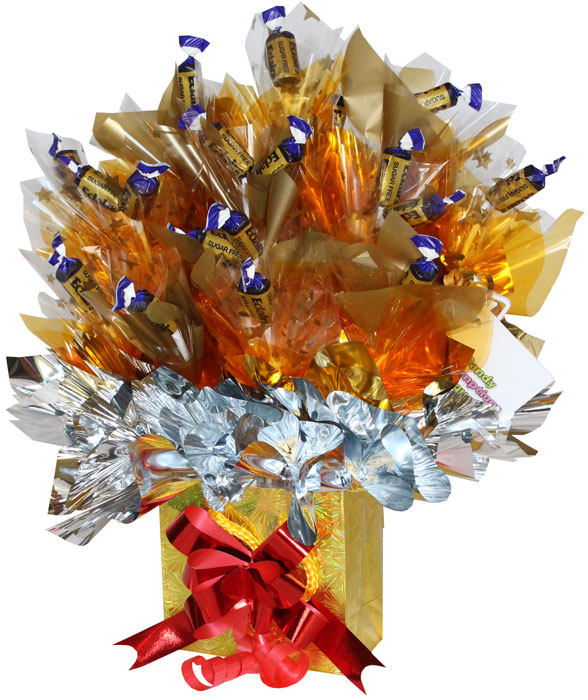 Sugar free chocolate eclair bouquet a candy bouquet gift sugar free chocolate eclair bouquet standard gold negle Gallery
