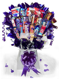 Boxed Chocolate and Sweetie Bouquets